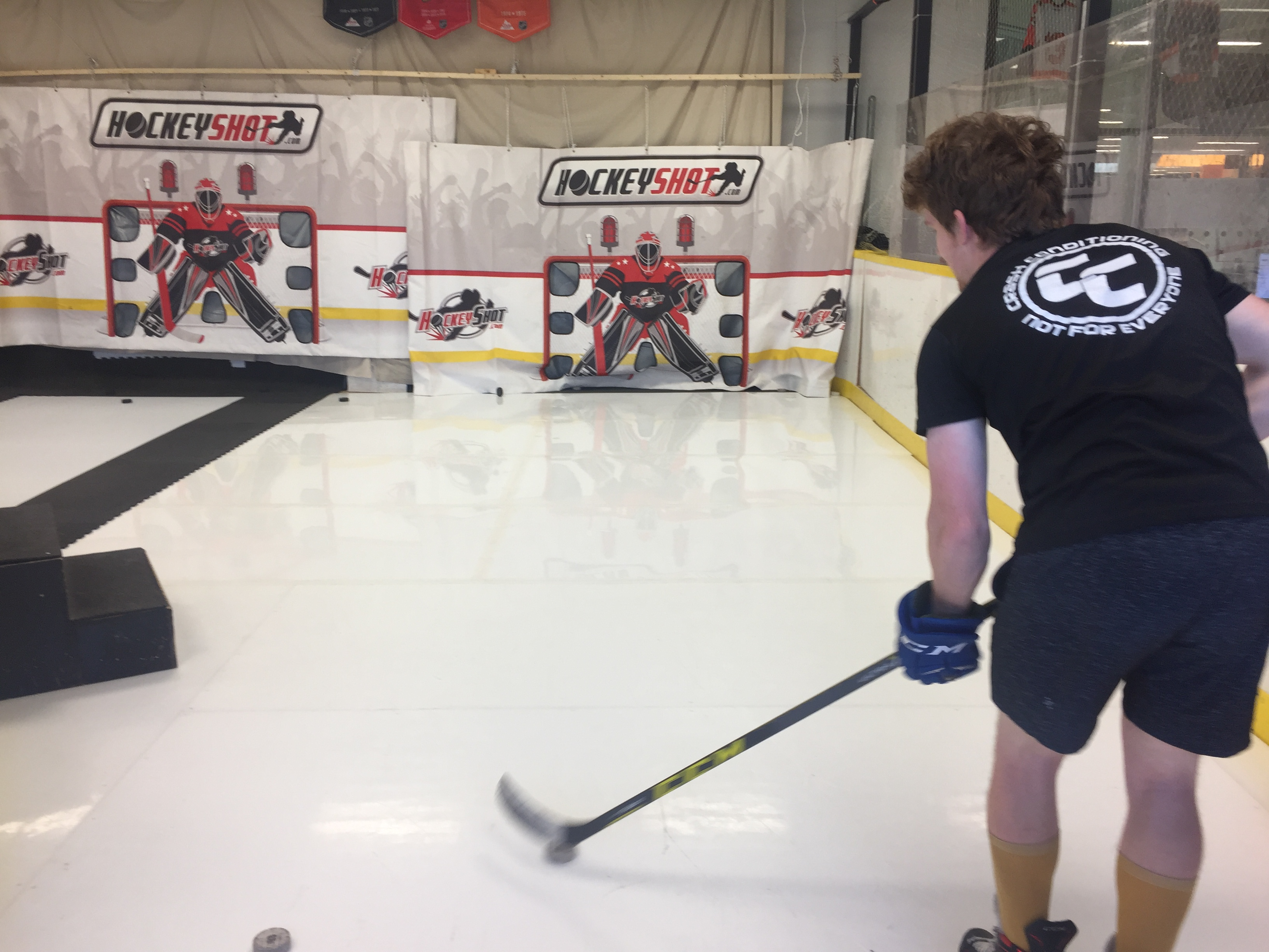 Hockey Shooting Practice in Calgary